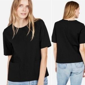 Everlane Size Small Black Ponte Short Sleeve Top